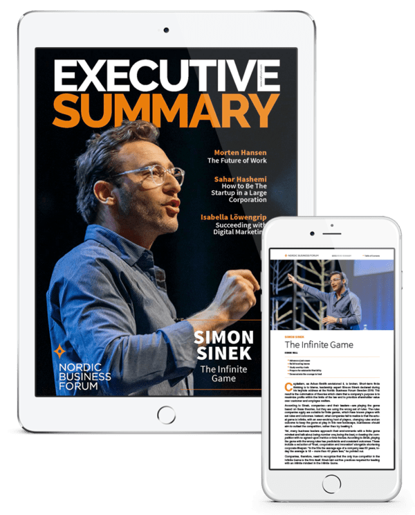 Executive Summary phone and pad set NBF Sweden NORWAY 2019