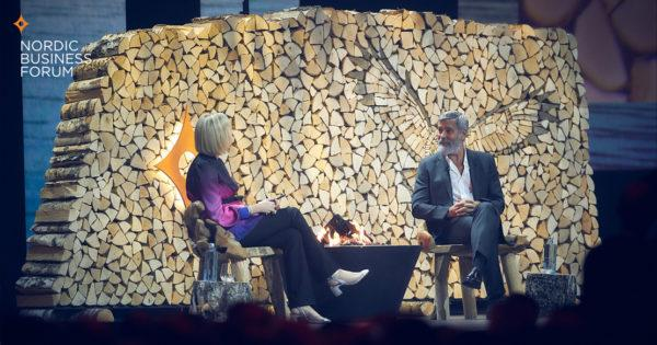 George Clooney at Nordic Business Forum 2019