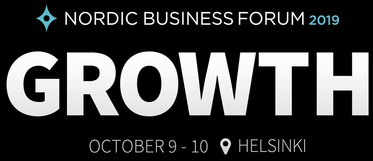Nordic Business Forum 2019 - Growth - October 9-10 @ Helsinki