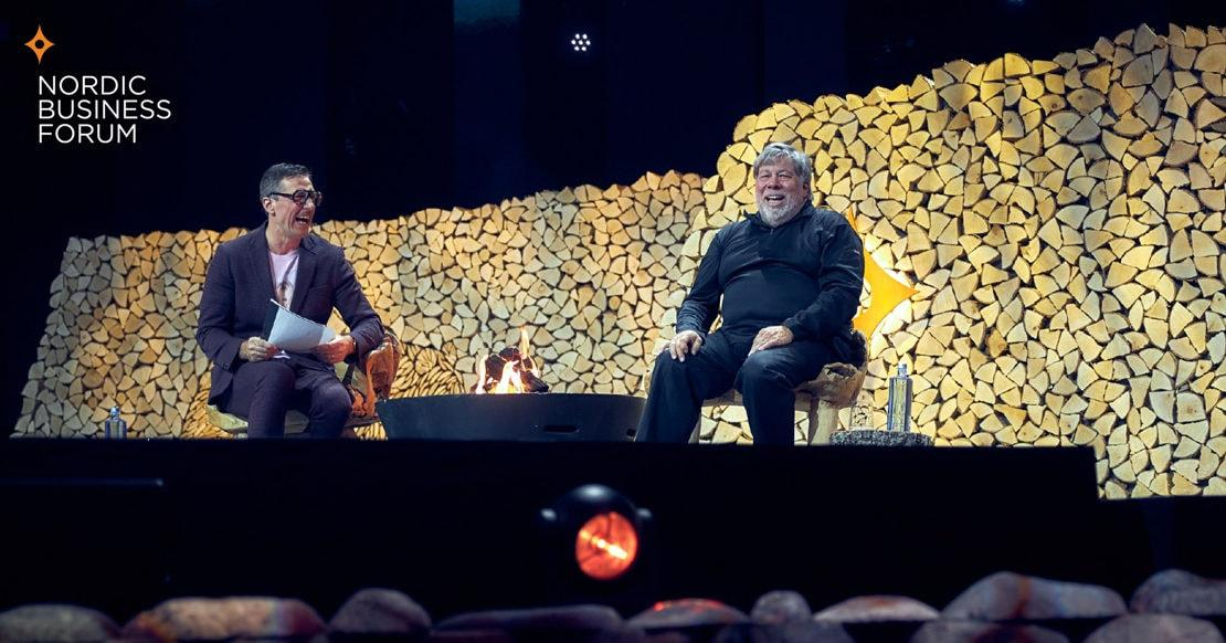 Steve Wozniak at Nordic Business Forum 2019