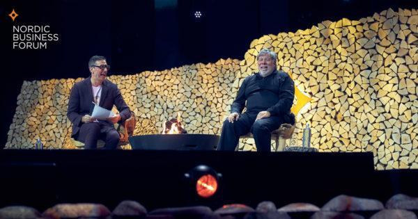 Steve Wozniak at Nordic Business Forum 2019