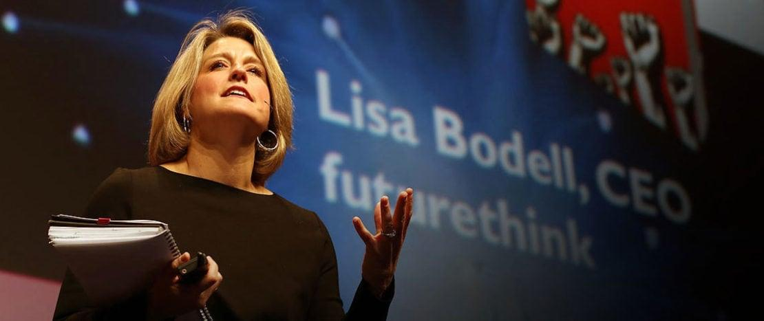Lisa Bodell at Nordic Business Forum