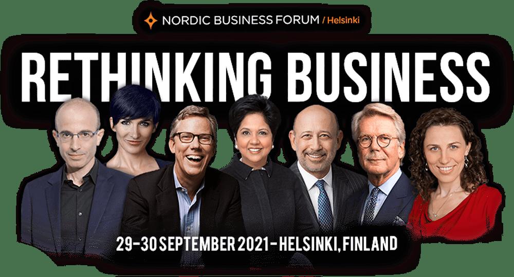 Nordic Business Forum Helsinki 2021 - Rethinking Business - 29-30 September 2021 - Exhibition & Convention Center in Helsinki